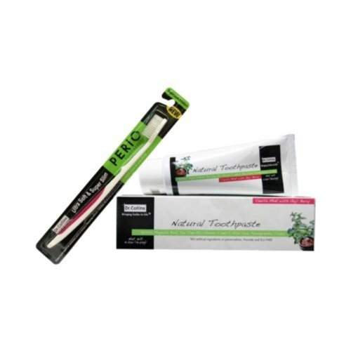 Dr. Collins Dr.Collins Natural Toothpaste & Perio Toothbrush Kit