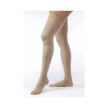 Jobst Women's Opaque Thigh High 15-20 mmHg Moderate Support Hose Size: Small, Color: Natural