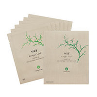 Wei East Gingko Leaf Repairing Decolletage Treatment Pads, 6 pieces