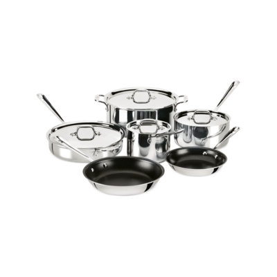 Crate And Barrel All-Clad ® Stainless Steel Nonstick 10-Piece Cookware Set