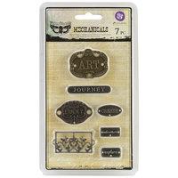 Prima Marketing, Inc. Mechanicals Metal Embellishments Plate & Label 7/Pkg