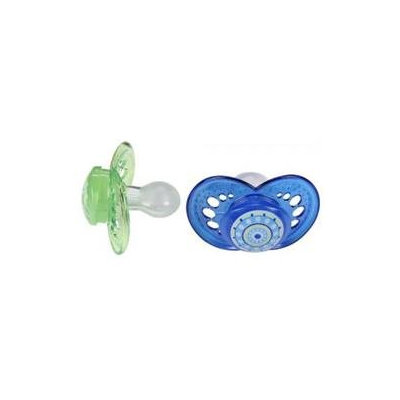 MAM Pacifiers, Orthodontic, Crystal, 6+ Months, 2 pacifiers