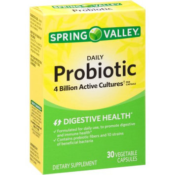 Wal-mart Store, Inc. Spring Valley Daily Probiotic Dietary Supplement Capsules, 30 count