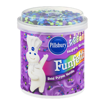 Pillsbury Happy Birthday Funfetti Frosting Bold Purple Vanilla
