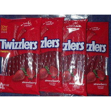 Twizzlers Strawberry Twists, 5-Ounce (Pack of 4)