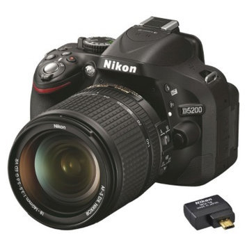 Nikon D5200 24.1MP Digital SLR Camera with 18-140mm VR Lens and WU-1A