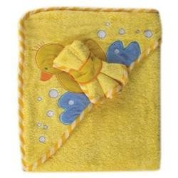 Baby Vision Luvable Friends Fancy Hooded Bath Wrap, Yellow
