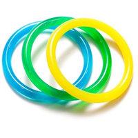 Dr. Bloom's Chewable Jewels 3 Count Infant/Juvenile Bracelets, Green, Yellow, Blue