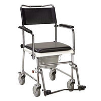 Drive Medical 11120SV-1 Commode Wheeled Silver Vein