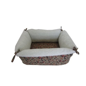 YML Square Pet Bed, Brown