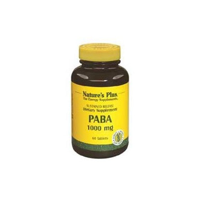 Nature's Plus - Paba, 1000 Mg, 60 Tablets [Health and Beauty]