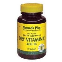 Nature's Plus Vitamin E Dry 400 IU - 60 Veggie Caps - Vitamin E Dry