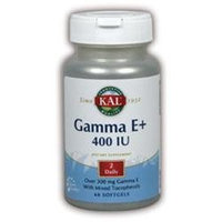 KAL Gamma E+ 400 IU - 60 Softgels - Vitamin E Combinations