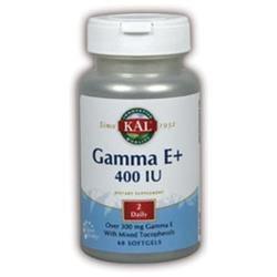KAL Gamma E+ 400 IU - 60 Softgels - Vitamin E Combinations