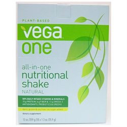 Vega One All-In-One Nutritional Shake Packets, Natural, 10 ea