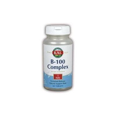 KAL Vitamin B-100 Complex - 60 Tablets - Vitamin B Complex