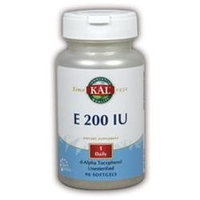 KAL Vitamin E 200 IU - 90 Softgels - Vitamin E D'Alpha