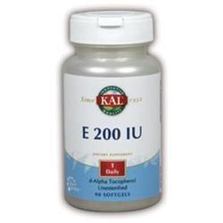 KAL Vitamin E 200 IU - 90 Softgels - Vitamin E D'Alpha