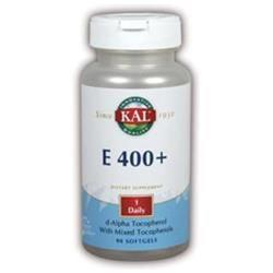 KAL Vitamin E D-Alpha Tocopherol W/Mixed Tocopherols 400 IU - 90 Softgels - Vitamin E Complex