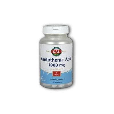 Kal Pantothenic Acid - 1000 mg - 100 Tablets