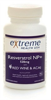 Resvarateol NP+520mg (Red Wine & Acai Extract) Extreme Health USA 60 VCaps