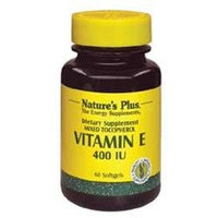 Nature's Plus Vitamin E 400 IU - 60 Softgels - Vitamin E D'Alpha