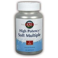 KAL High Potency Soft Multiple - 60 Softgels - Multivitamins with Iron