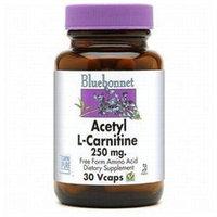 Bluebonnet Nutrition - Acetyl L-Carnitine Free-Form Amino Acid 250 mg. - 30 Vegetarian Capsules