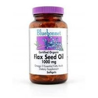 Bluebonnet Nutrition - Certified Organic Flax Seed Oil 1000 mg. - 100 Softgels