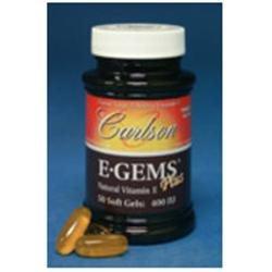 Carlson Laboratories E-Gems Plus Atural Vitamin E 400 IU - 50 Softgels - Vitamin E Complex