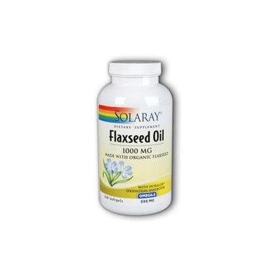 Solaray Flaxseed Oil - 1000 mg - 240 Softgels