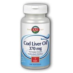 Kal Cod Liver Oil - 370 mg - 100 Softgels