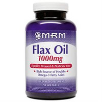 MRM Certified Organic Flax Oil - 1000 mg - 90 Softgels