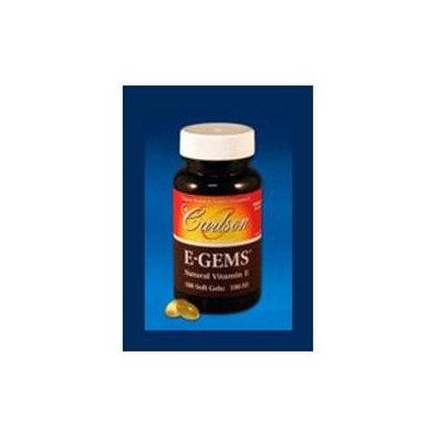 Carlson Laboratories E-Gems 100 IU - 250 Softgels - Vitamin E D'Alpha