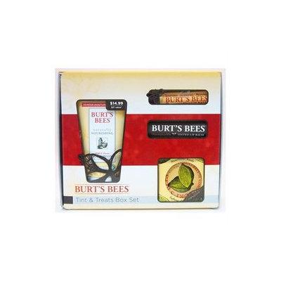 Burt's Bees Tints & Treats Box Lotion Lip Balm Tinted Balm & Cuticle Creme