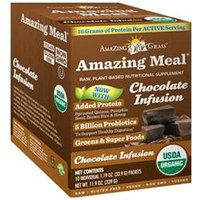 Amazing Grass Amazing Meal Chocolate Infusion - 10 Packets - Vegan