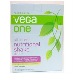 Vega One All-In-One Nutritional Shake Packets, Berry, 10 ea