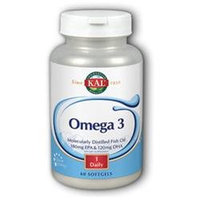 Kal - Omega-3 Molecularly Distilled Fish Oil - 60 Softgels