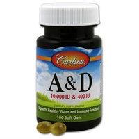 Carlson Laboratories A & D 10000iu/400iu - 100 Softgels - Vitamin A & D