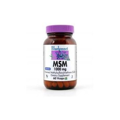 Bluebonnet Nutrition - MSM Patented Methylsulfonylmethane Sulfur 1000 mg. - 60 Vegetarian Capsules