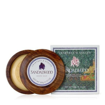 Crabtree & Evelyn Sandalwood Shave Soap in Wooden Bowl