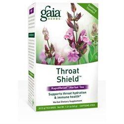 Gaia Herbs RapidRelief Throat Shield Herbal Tea - 20 Tea Bags