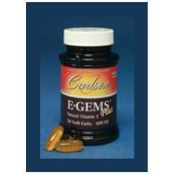 Carlson Laboratories E-Gems Plus 400 IU - 250 Softgels - Vitamin E Complex
