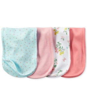 Carter's 4-pk. Floral Burp Cloths - Baby Girl (Pink)