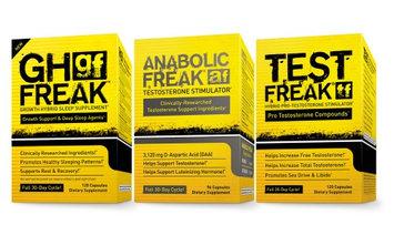 Saga Sciences (1)PharmaFreak Test Freak - Testosterone Stimulator (1) Anabolic Freak and (1) GH Freak - ULTIMATE BODYBUILDING STACK!