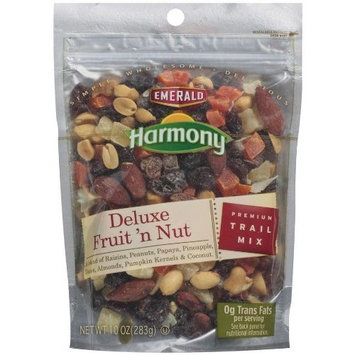 Emerald Harmony Deluxe Fruit N Nut Trail Mix, 10-Ounce Bags (Pack of 6)