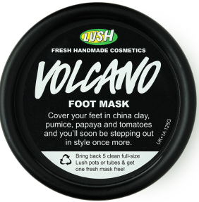 LUSH Cosmetics Volcano Foot Mask
