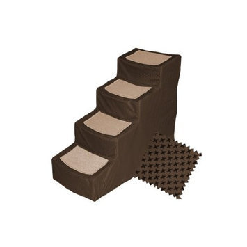Pet Gear Designer 4-Step with Removable Cover, Pet Stairs, Chocolate
