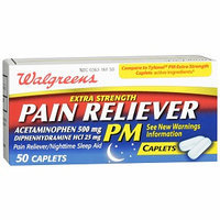 Walgreens Pain Reliever Pm Extra Strength Caplets