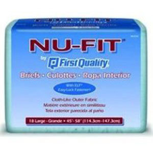 First Quality Adult Incontinence Underwear Nu-Fit Adult Brief, Large